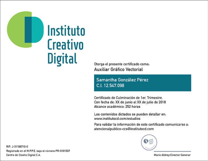 Certificado Tiro Web icd